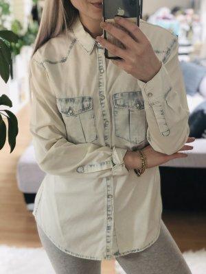 H&M Camisa vaquera multicolor