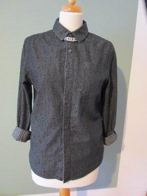 Lefties Jeans blouse antraciet-zwart