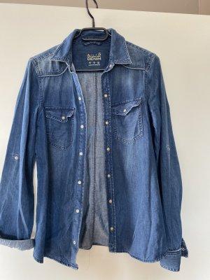 Jeanshemd Bluse M blau