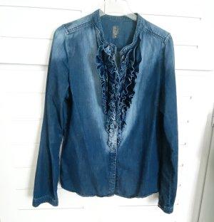 Summum Blouse en jean bleu