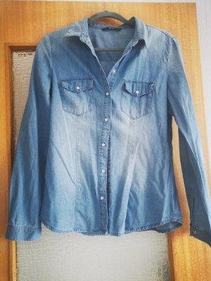 only jeans Blouse en jean bleu azur-bleuet