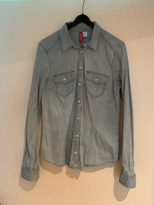 H&M Divided Camicia denim blu-azzurro