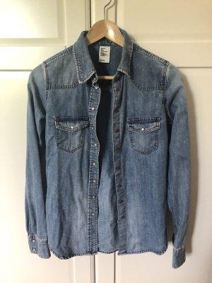 H&M DENIM Jeansowa koszula błękitny