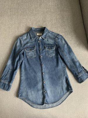 Diesel Bluzka jeansowa niebieski