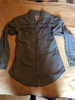 Hollister Denim Shirt cornflower blue