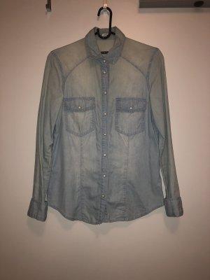 Pimkie Jeansowa koszula błękitny-jasnoszary
