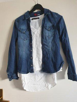 H&M Divided Blouse en jean bleu foncé