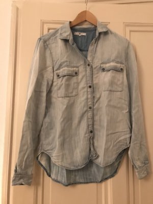 7 For All Mankind Denim Shirt pale blue