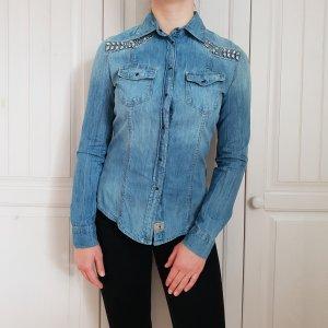 Jeanshemd Guess Jeans Hemd Blau Bluse Jeansbluse S Jeansjacke Jacke Top T-Shirt Shirt