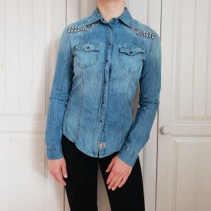 Guess Blouse en jean multicolore