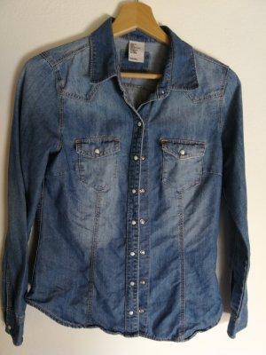 H&M Bluzka jeansowa niebieski