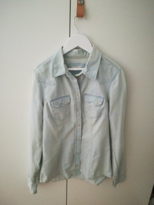H&M DENIM Blusa vaquera multicolor