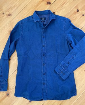 Hackett Denim Blouse dark blue