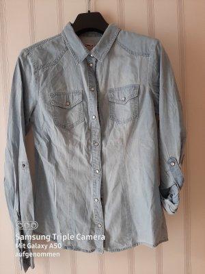 jeanshemd hellblau