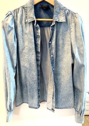 Object Chemise en jean bleu acier-bleu azur