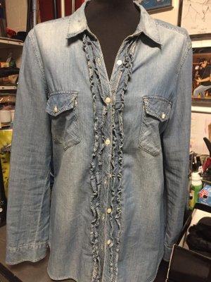 Jeansowa koszula błękitny-chabrowy Denim