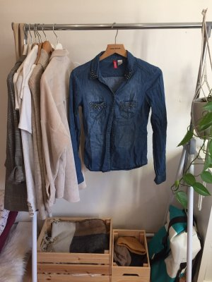 H&M Jeansowa koszula niebieski