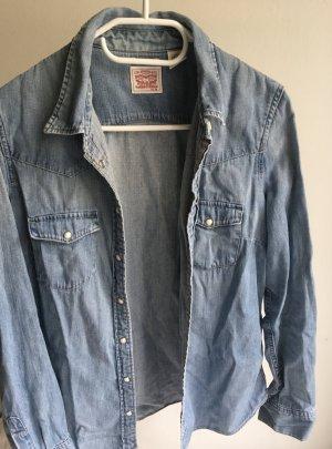 Levi's Camicia denim blu fiordaliso Cotone