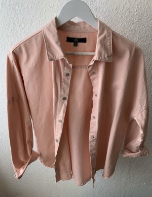 Missguided Denim Shirt apricot-pink