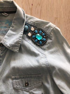 Tally Weijl Blouse en jean bleu