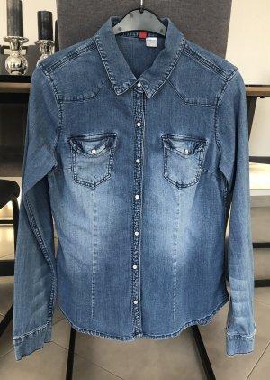 H&M Divided Chemise en jean bleu