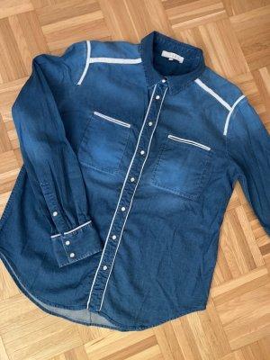 Jeanshemd mit Ledereinsätzen von Iro