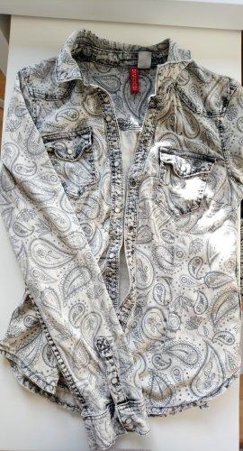 H&M Bluzka jeansowa jasnoszary-szary