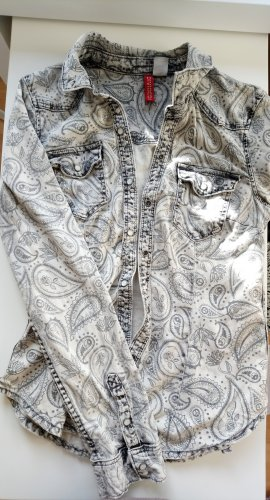 H&M Blusa vaquera gris claro-gris