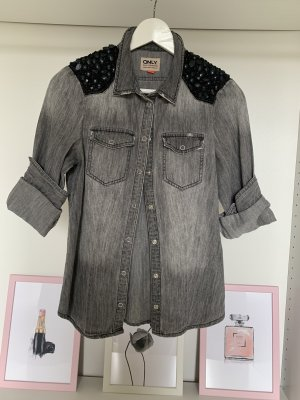 Only Denim Blouse silver-colored-black