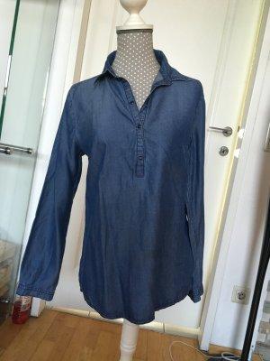 More & More Camicia denim blu neon Cotone