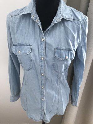 Primark Jeansowa koszula niebieski-błękitny