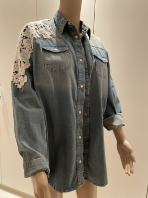 Pinko Denim Shirt white-azure