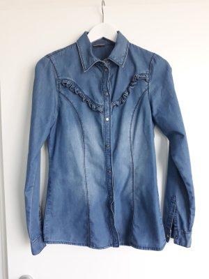 Vero Moda Denim Shirt steel blue cotton