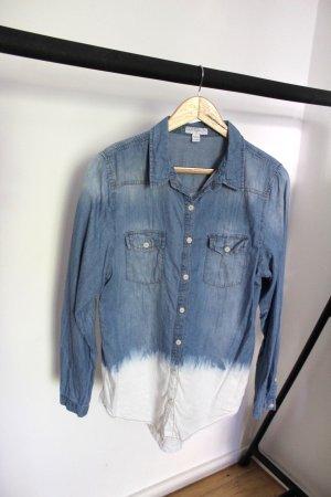 Cotton On Camicia denim bianco-blu acciaio