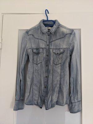 Diesel Jeansowa koszula niebieski