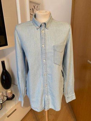 H&M Chemise en jean bleu azur
