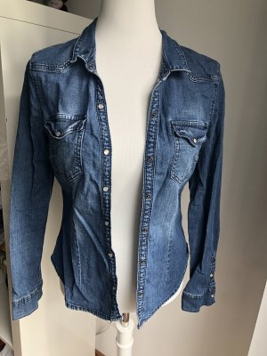 H&M Divided Denim Shirt blue-steel blue