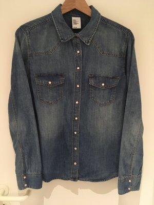 H&M Jeansowa koszula Wielokolorowy Bawełna