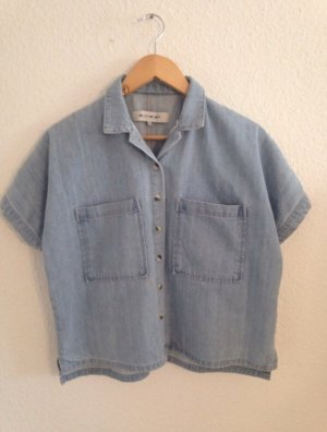 Light Before Dark Denim Shirt light blue-azure