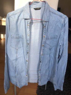 Massimo Dutti Chemise en jean multicolore