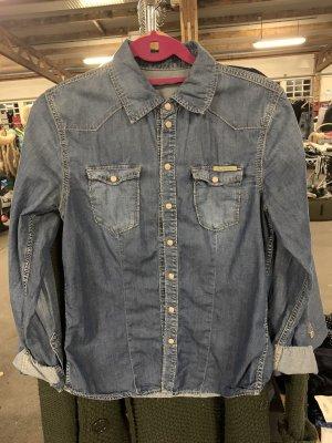 Pepe Jeans Spijkershirt azuur-staalblauw