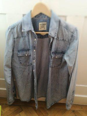 Pull & Bear Camicia denim blu