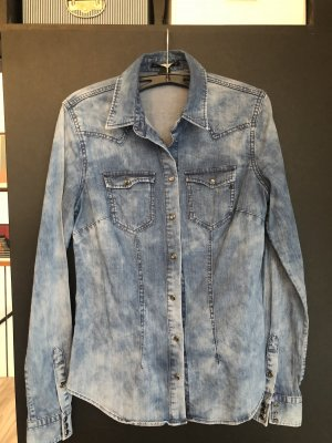 Replay Denim Shirt slate-gray