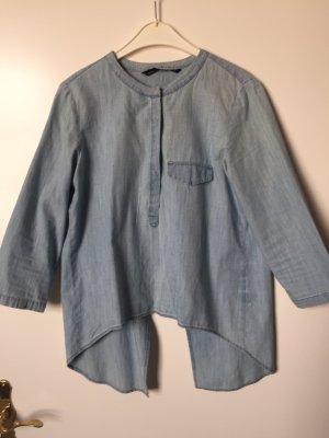 Zara Camisa vaquera azul-azul celeste
