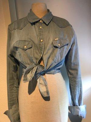 Wrangler Koszula myśliwska jasnoniebieski Bawełna