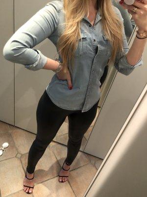 Zara Blouse en jean multicolore