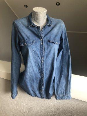 Zara Trafaluc Camicia denim blu-blu fiordaliso