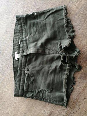H&M Denim Shorts khaki