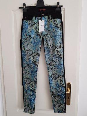 7 For All Mankind Slim jeans zwart-turkoois