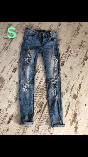 Tally Weijl Pantalón de tubo azul